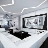 дизайн комнаты в черно белых тонах фото 16