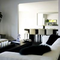 дизайн комнаты в черно белых тонах фото 18