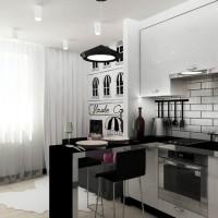 дизайн комнаты в черно белых тонах фото 19