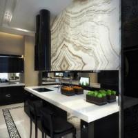 дизайн комнаты в черно белых тонах фото 21