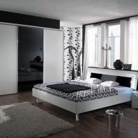 дизайн комнаты в черно белых тонах фото 22