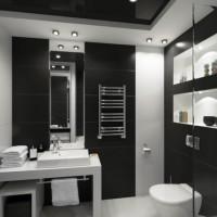 дизайн комнаты в черно белых тонах фото 26
