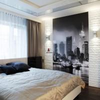 дизайн комнаты в черно белых тонах фото 28