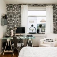 дизайн комнаты в черно белых тонах фото 29