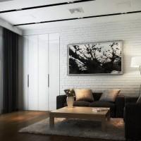 дизайн комнаты в черно белых тонах фото 34