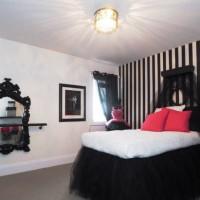 дизайн комнаты в черно белых тонах фото 37