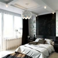 дизайн комнаты в черно белых тонах фото 4