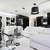 дизайн комнаты в черно белых тонах фото 40