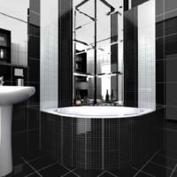 дизайн комнаты в черно белых тонах фото 44