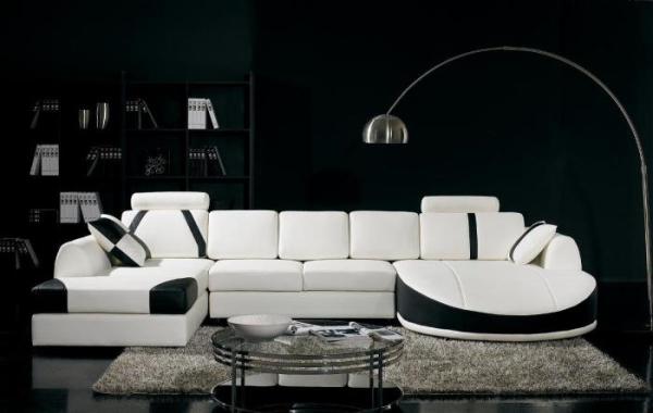 дизайн комнаты в черно белом стиле фото