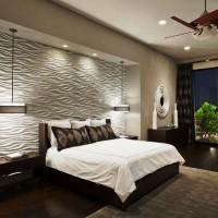 дизайн спальни с обоями двух цветов фото 10