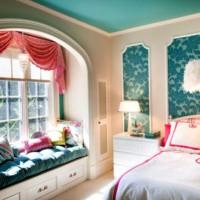 дизайн спальни с обоями двух цветов фото 12