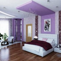 дизайн спальни с обоями двух цветов фото 27