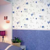 дизайн спальни с обоями двух цветов фото 38