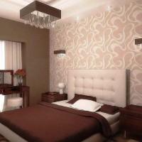 дизайн спальни с обоями двух цветов фото 42