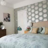 дизайн спальни с обоями двух цветов фото 44