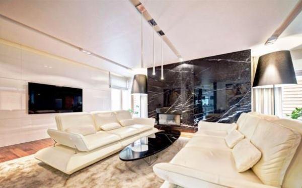 гостиная в белых тонах фото