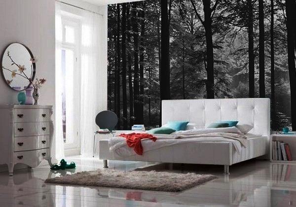 интерьер комнаты в черно белом стиле фото