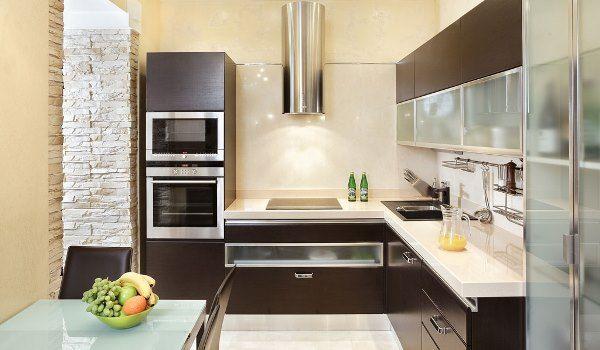 интерьер кухни в бежевом цвете фото 3