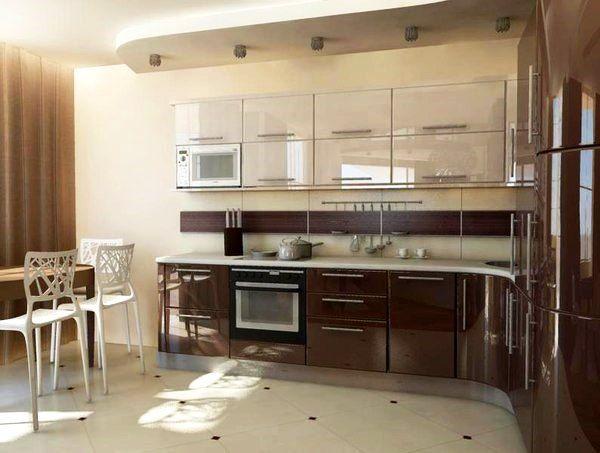 интерьер кухни в бежевом цвете фото 4