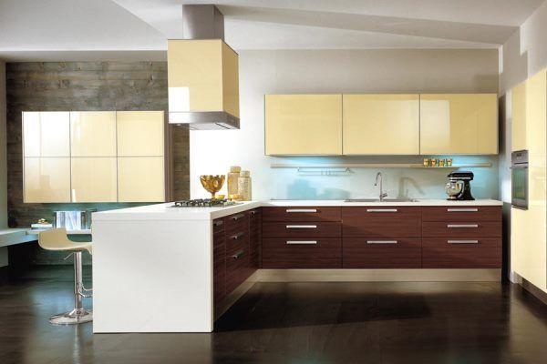 интерьер кухни в бежевом цвете фото 8