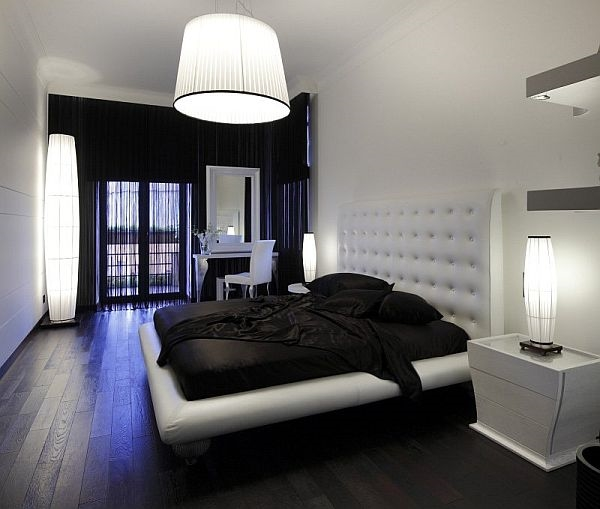 интерьер в черно белом стиле фото