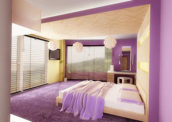как красиво наклеить обои в спальне двух цветов фото 4