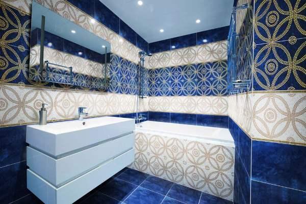 керамическая плитка для маленькой ванной дизайн фото
