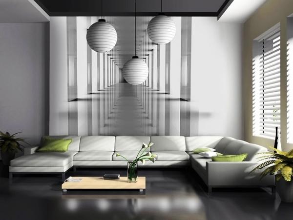 комната в черно белом стиле фото