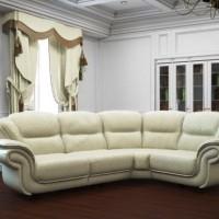 кожаный угловой диван фото 23