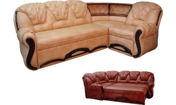 кожаный угловой диван фото 3