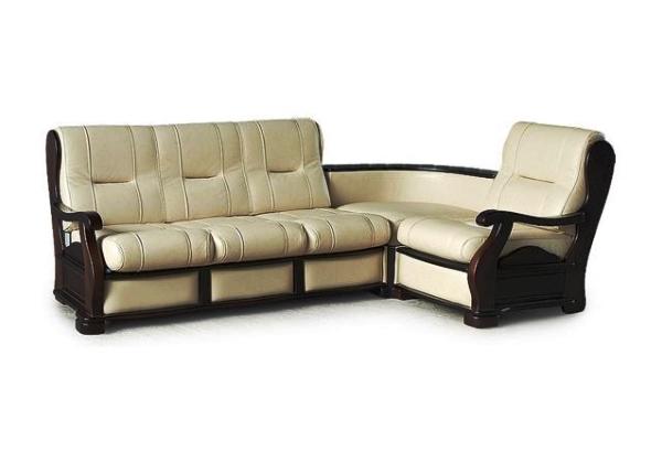 кожаный угловой диван фото 4