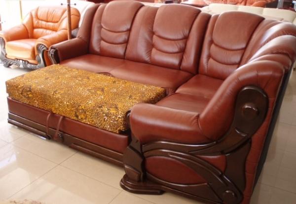 кожаный угловой диван фото 7