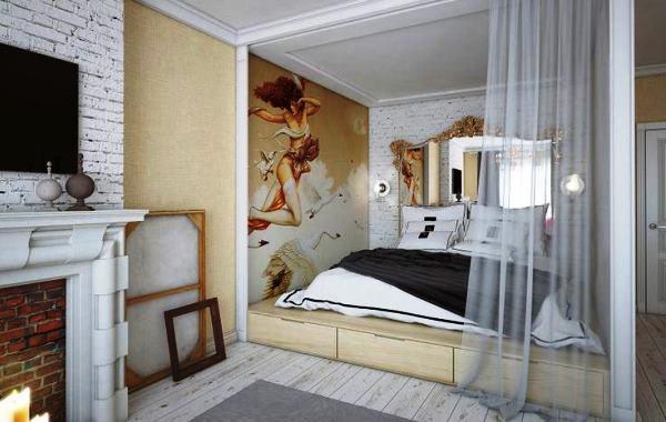 кровать с подиумом фото 3