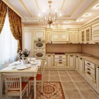 кухня в бежево коричневых тонах фото 20