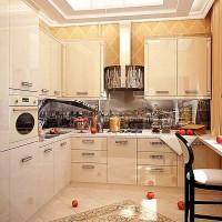 кухня в бежево коричневых тонах фото 22