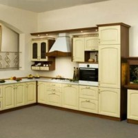 кухня в бежево коричневых тонах фото 29