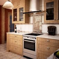 кухня в бежево коричневых тонах фото 6