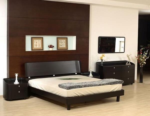 мебель венге в интерьере спальни фото