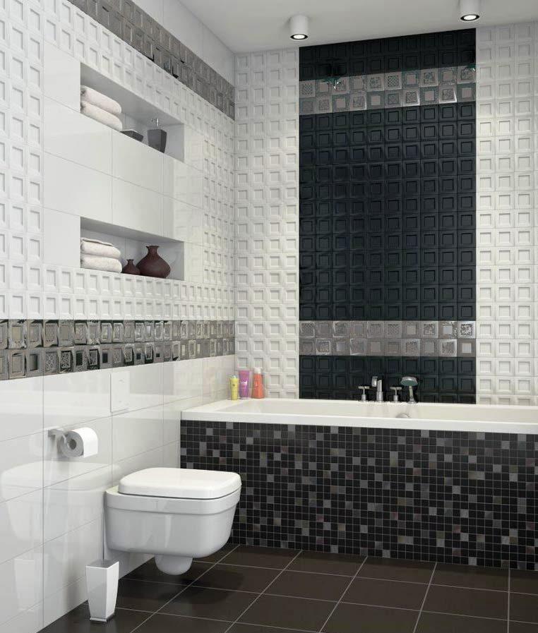 ванна мозаика черная