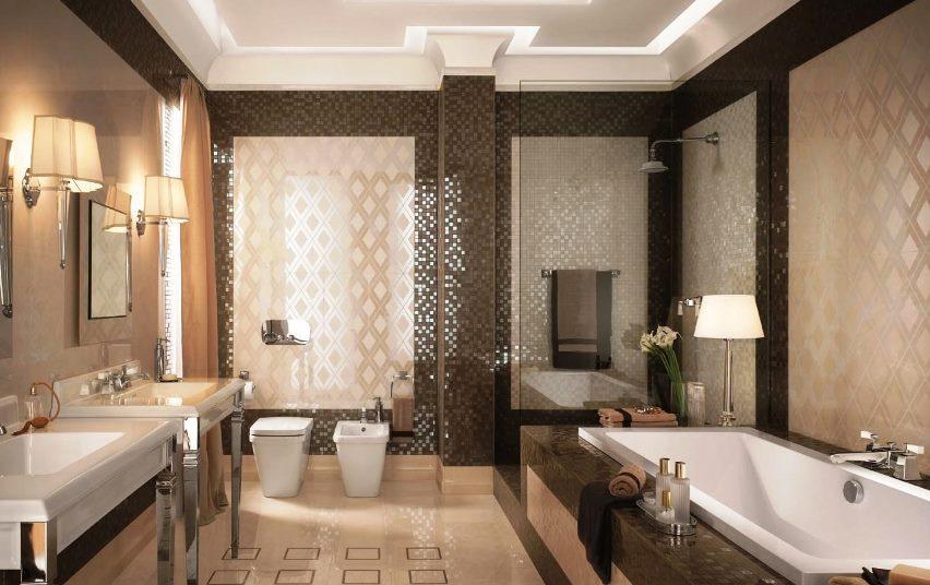 мозаичная плитка для ванной фото