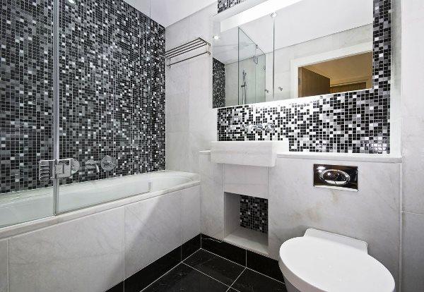 мозаика в интерьере ванной комнаты фото 4