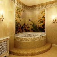 мозаика в ванной дизайн фото