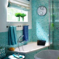 мозаика в ванной дизайн фото 42