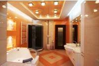 натяжные потолки в ванной комнате фото