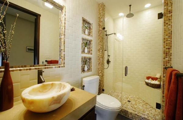 отделка ванной комнаты мозаикой фото дизайн
