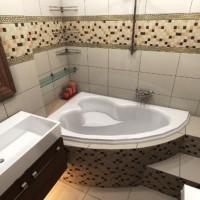 плитка для маленькой ванной комнаты дизайн фото 17