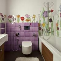 плитка для маленькой ванной комнаты дизайн фото 18