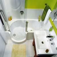 плитка для маленькой ванной комнаты дизайн фото 2