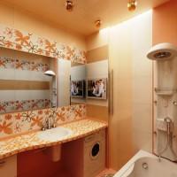 плитка для маленькой ванной комнаты дизайн фото 4